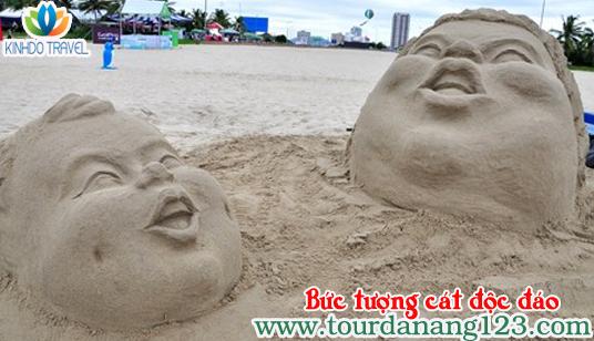 Du lịch Đà Nẵng - Bức tượng cát đoạt giải nhất cuộc thi