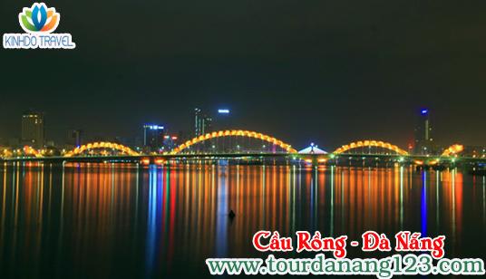 Cầu rồng Đà Nẵng trong đêm