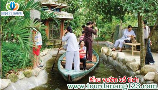 """tour du lịch Đà Nẵng Chèo ghe trong """"khu vườn cổ tích"""""""