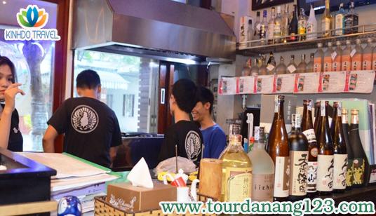 Không gian một nhà hàng Nhật địa điểm du lịch Đà Nẵng