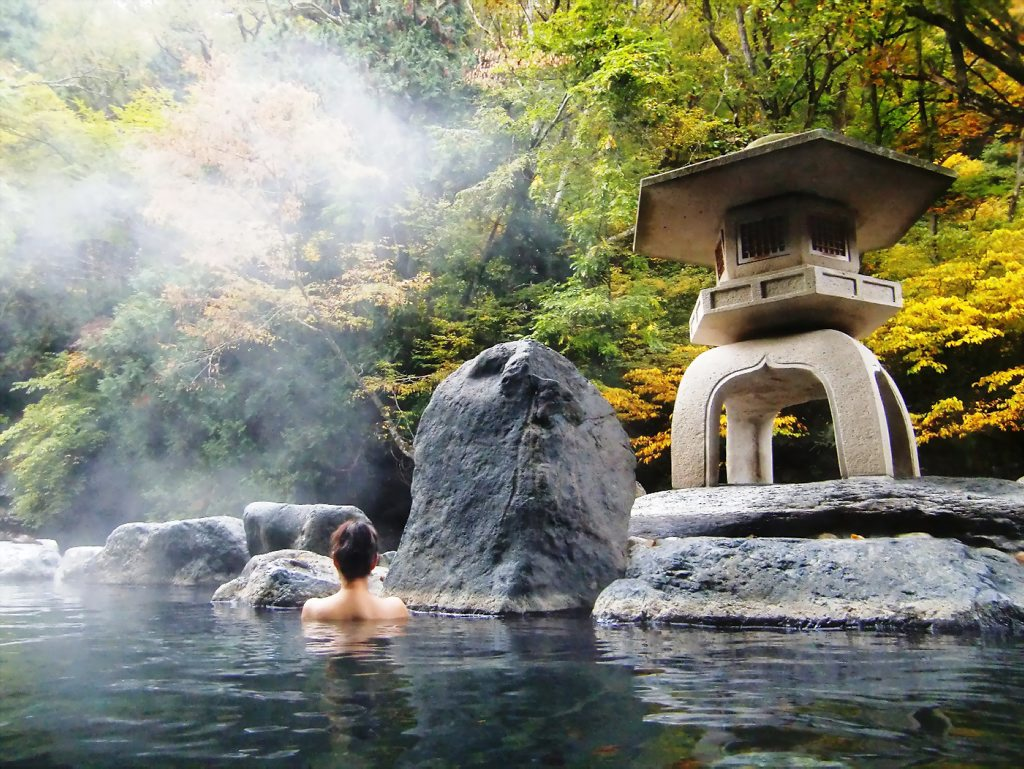 Tắm khoáng Onsen