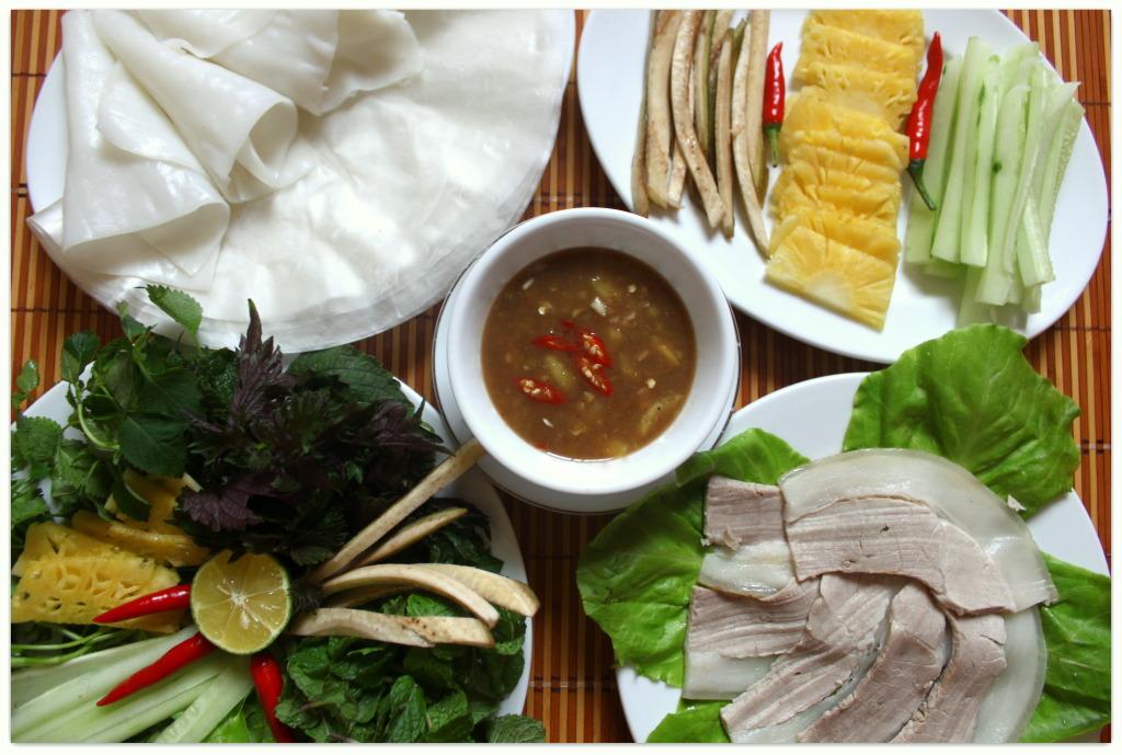 Bánh tráng  cuốn thịt heo quán Trần, những quán bánh tráng cuốn thịt heo ngon nhất Đà Nẵng