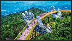 Cầu Vàng khiến những người yêu xê dịch lại có thêm lí do để đi du lịch Đà Nẵng