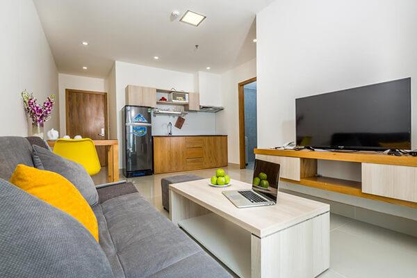 Nên thuê các apartment khi du lịch Đà Nẵng cùng còn nhỏ vì có phòng bếp riêng