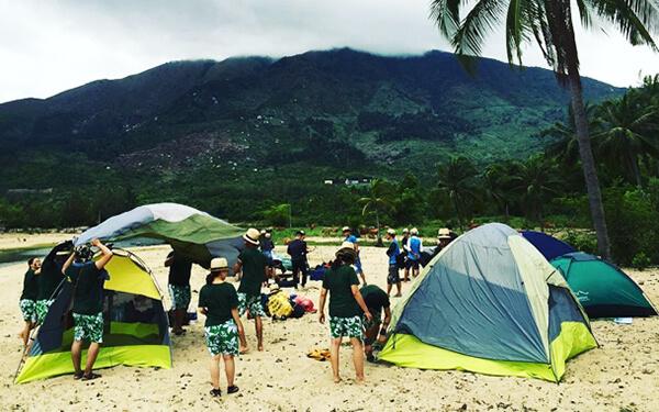 Cắm trại tại làng Vân là một trải nghiệm đáng thử khi đến Đà Nẵng