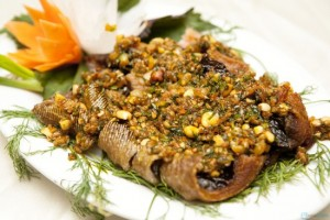 món ngon Đà Nẵng, cá đuối nướng