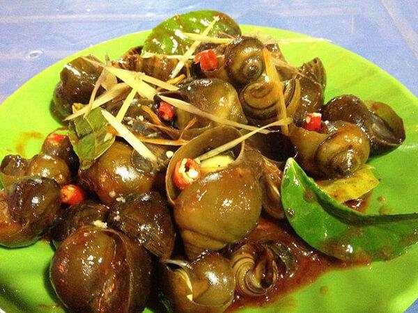 Món ốc xào tại Đà Nẵng